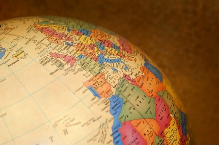 Close up side view of a globe. Stock Photo - 10802129