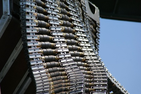 Close up of machine gun bullets used on an World War II era bomber. Stock Photo - 10887919