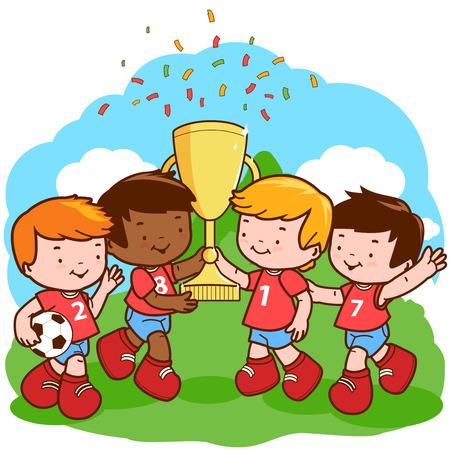 kids football: Soccer kids champions