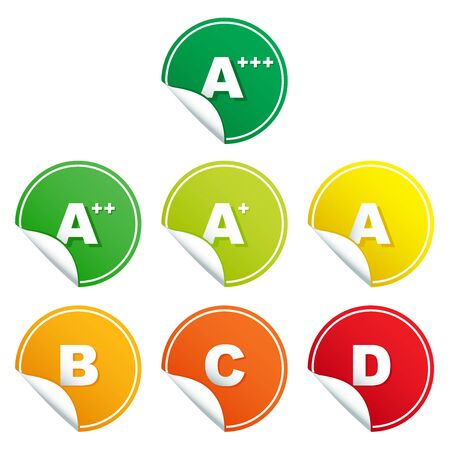 energy ranking: Energy rating class stickers