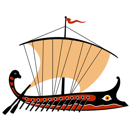 Greek trireme Illustration