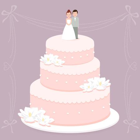 pastel boda: Pastel de boda Vectores
