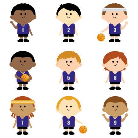 Children basketball team Illustration