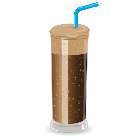 nescafe: Nescafe Frappe instant iced coffee. Illustration