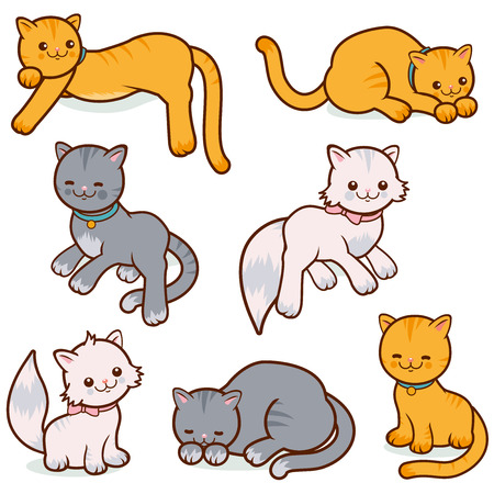grey cat: Cats vector set