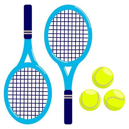 rackets: Tennis rackets and balls