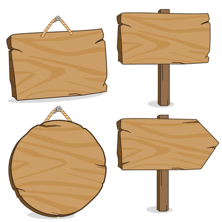 directional: Wooden signs