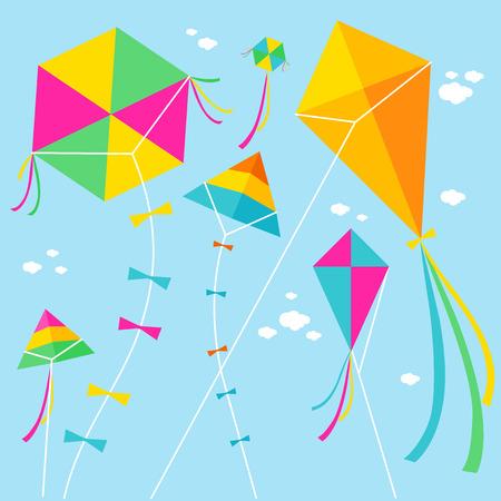 Kites  Ilustración de vector