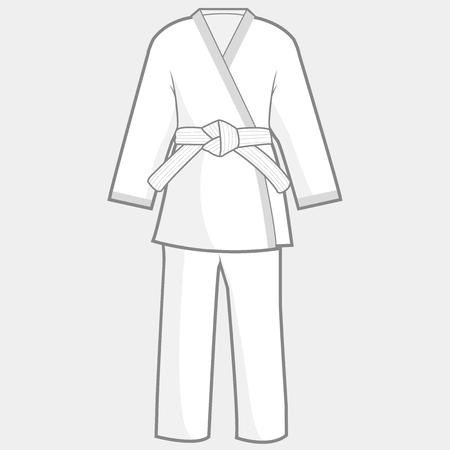 self training: Martial arts kimono suit