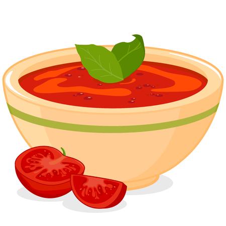 soup: Homemade tomato soup
