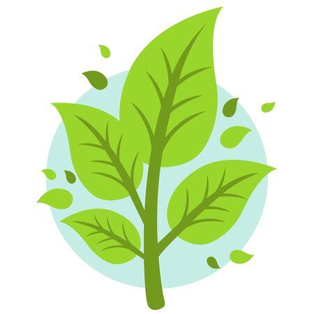 green plants: Leaf icon Illustration