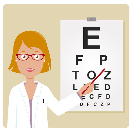 eye doctor: Female ophthalmologist