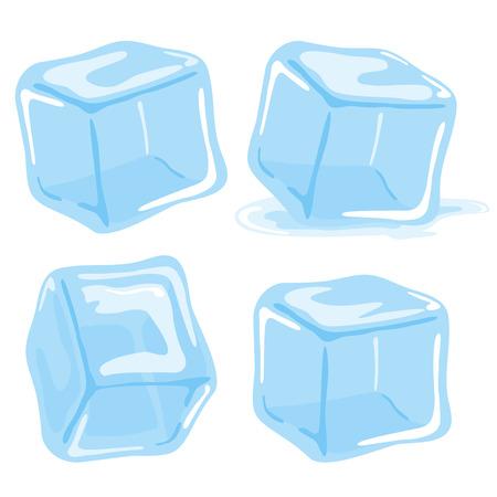 cubetti di ghiaccio: Cubetti di ghiaccio Vettoriali