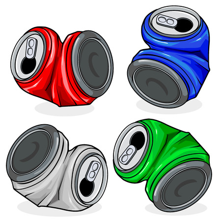 crushed: Crushed tin cans