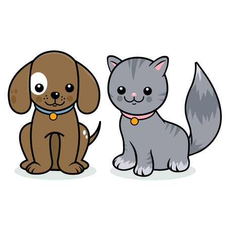 kitty cat: Cat and dog