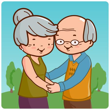 senior couple: Senior couple Illustration