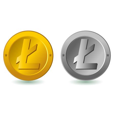 lite: Lite coin Illustration