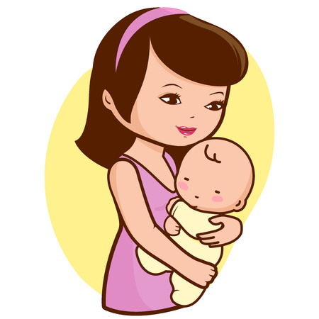 mummy: Mother holding baby