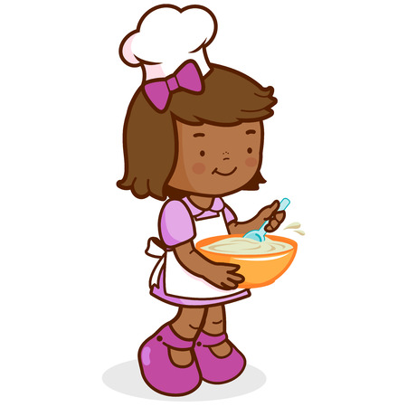 cooking chef: African girl chef cooking