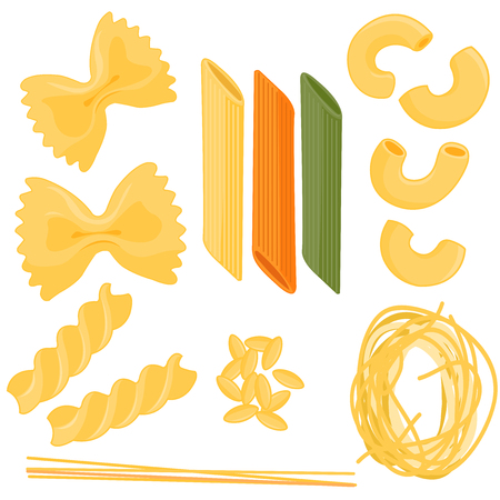 angel hair: Pasta collection Illustration