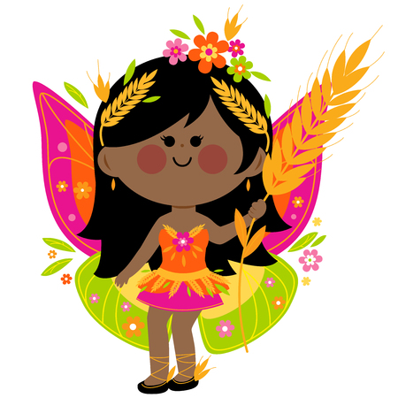 female animal: Summer fairy Illustration
