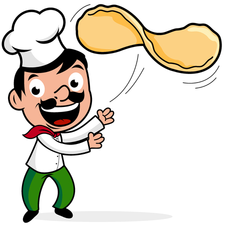 tossing: Chef throwing pizza