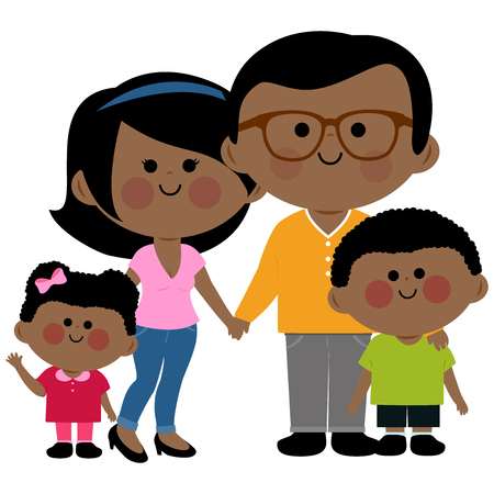 467 Happy African American Family Stock Vector Illustration And ...