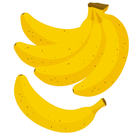 bunch: Bunch of yellow bananas Illustration