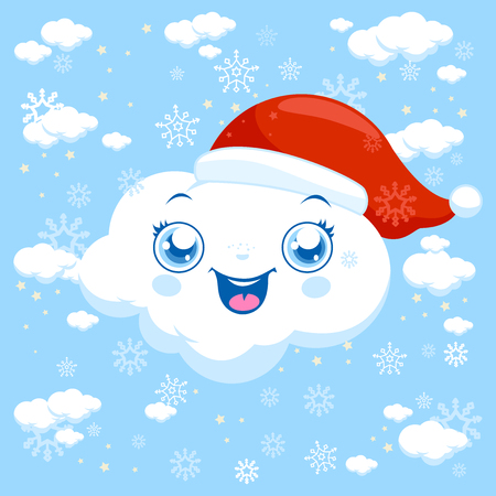 snowing: Christmas clouds snowing