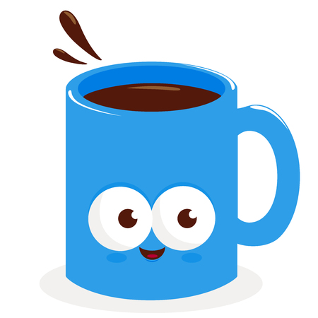 cup of coffee: Cartoon cup of coffee Illustration