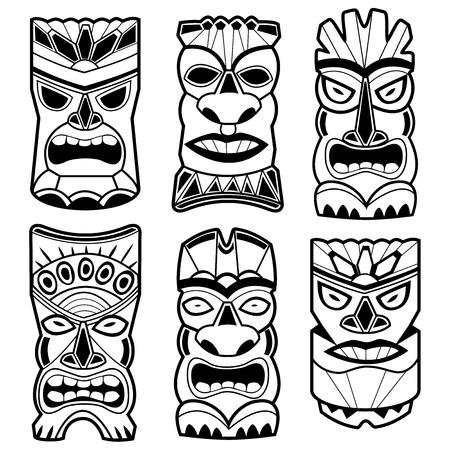 máscaras estatua del tiki hawaiano