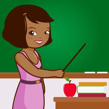 African American female teacher