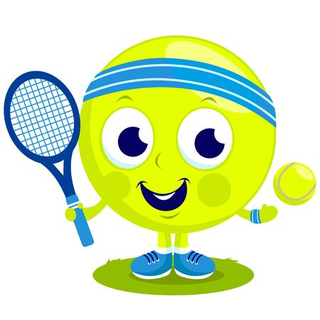 Tennisball Charakter