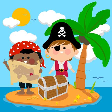 Pirates on treasure island