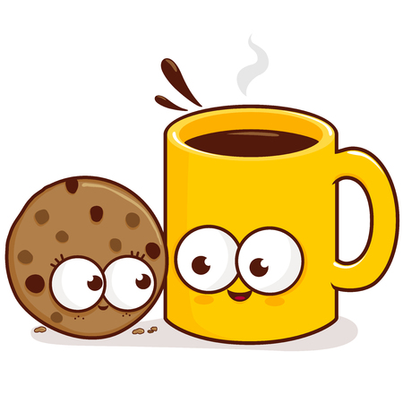 Coffee and cookie characters