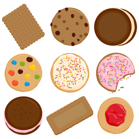 Cookies and biscuits collection Illustration