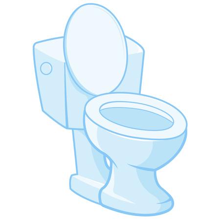 Vector illustration of toilet seat Illustration