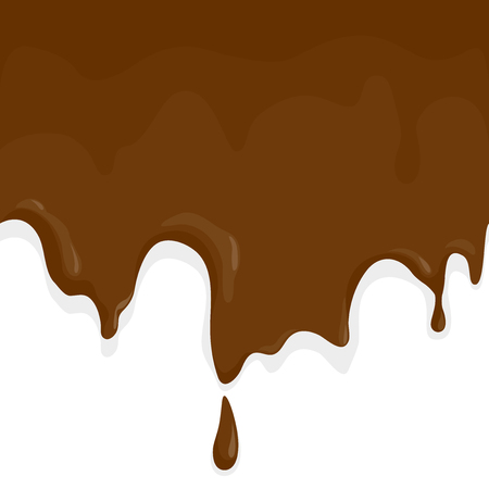 Chocolate melting and dripping.