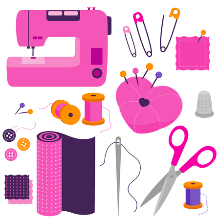 Sewing tools equipment and tailor needlework accessories.