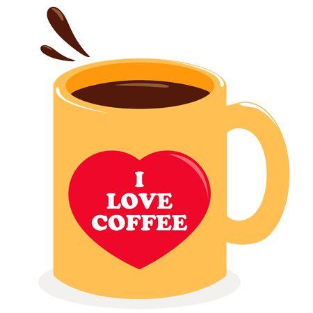 Cup of coffee illustration. Ilustração