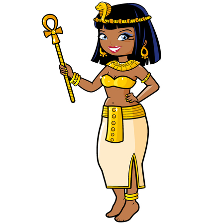 Classic illustration of cleopatra. Illustration