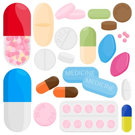Medicine set Vector illustration Ilustracja