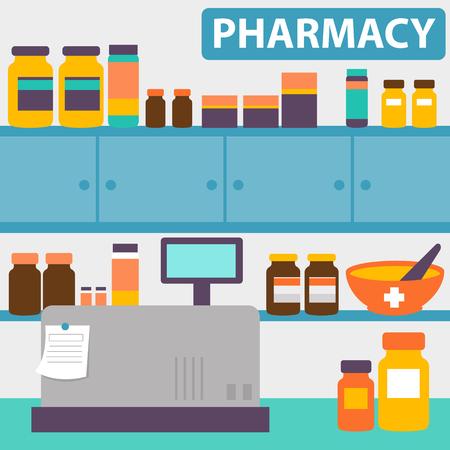 Pharmacy interior