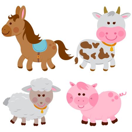 家畜:馬、牛、羊、豚