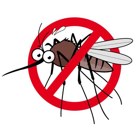 Cartoon mosquito repellent sign