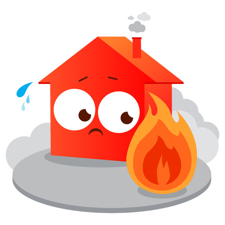 House on fire. Vector illustration.