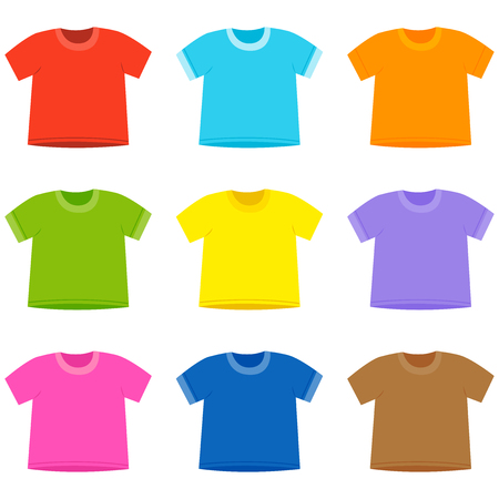 Colorful t-shirt collection. Vector illustration Illustration