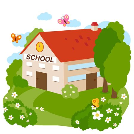 School building.  Vector illustration Stock Vector - 129299140