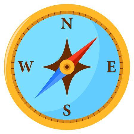 Vector illustration of a golden compass.