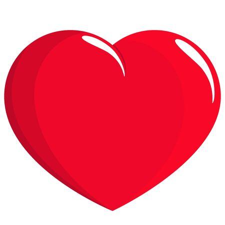 Vector red heart illustration Stock Vector - 129299153